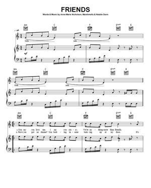 Sheet Music Anne Marie & Marshmello - FRIENDS