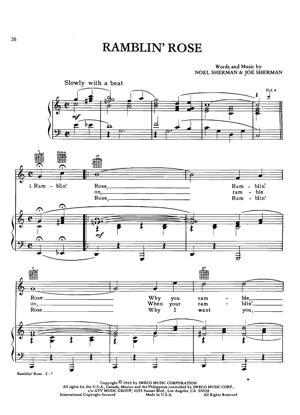 Sheet Music Nat king Cole - Ramblin Rose