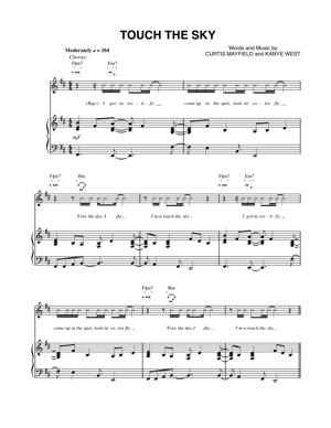 Sheet Music Kanye West - Touch The Sky