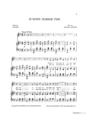 Sheet Music In Sunny Summertime