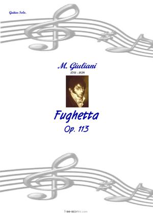 Sheet Music Fughetta