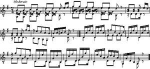 Sheet Music Etude 4