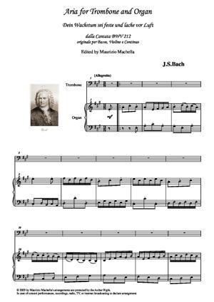 Sheet Music DEIN WACHSTHUM SEI FESTE -Aria dalla Cantata BWV 212. Trascrizione per Trombone e Organo manualiter