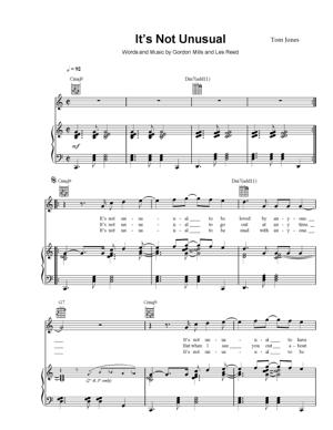 Sheet Music Tom Jones - It's Not Unusual