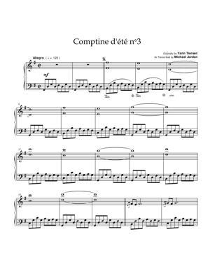 Sheet Music Yann Tiersen - Comptine d'ete No.3