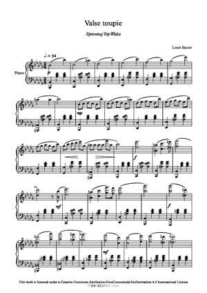 Sheet Music Spinning Top Waltz
