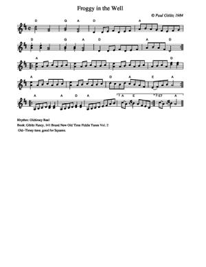 Sheet Music Froggy in the Well