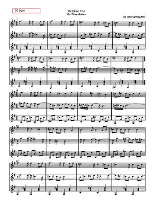 Sheet Music October Trio