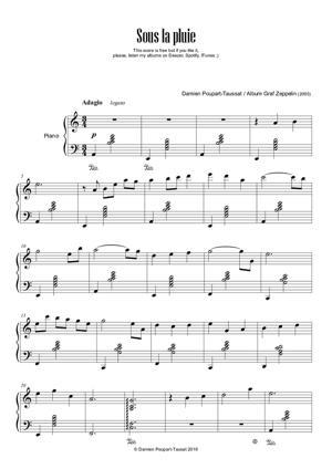 Sheet Music Sous la pluie