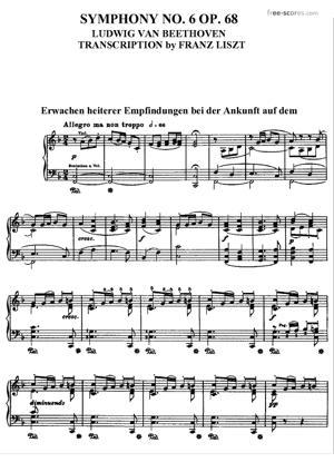 Sheet Music Symphony No. 6 in F major