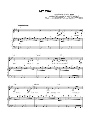 Sheet Music Frank Sinatra - My WayPiano Sheet Music