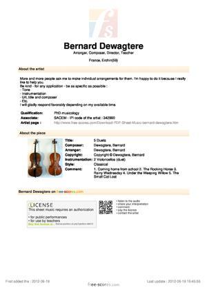 Sheet Music 5 Duets