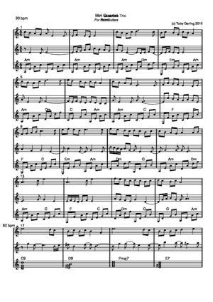 Sheet Music Miri Trio