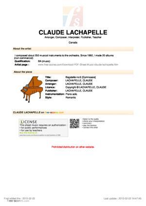 Sheet Music Bagatelle no:5