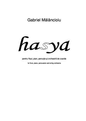 Sheet Music Hasya