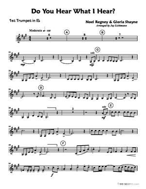 Sheet Music Noel Regney & Gloria Shayne : Do You Hear What I Hear?