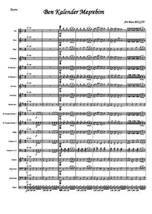 Sheet Music BEN KALENDER MESREBIM