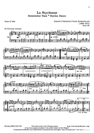 Sheet Music La Styrienne