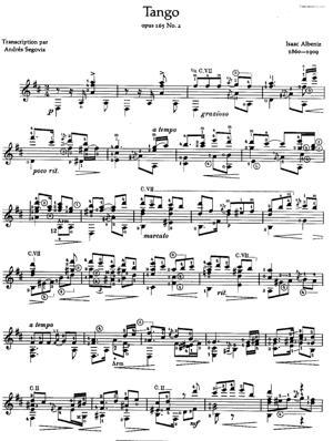 Sheet Music Tango