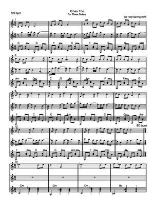 Sheet Music Xmas Trio