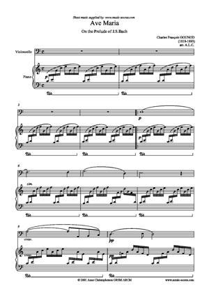 Sheet Music Ave Maria