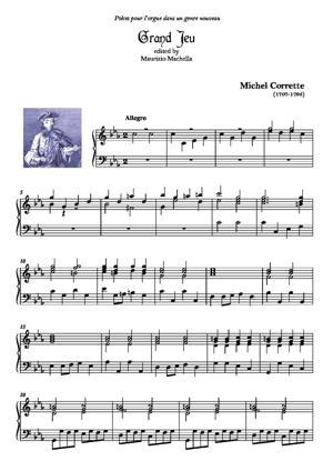 Sheet Music Grand Jeu Ut 3e mineure