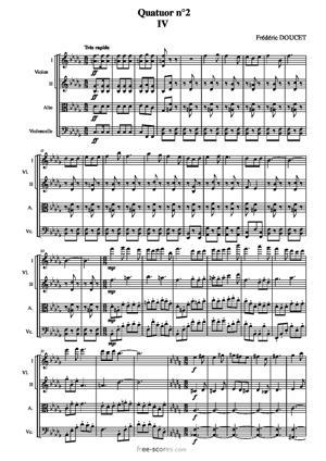 Sheet Music Quatuor n°2 - fougues