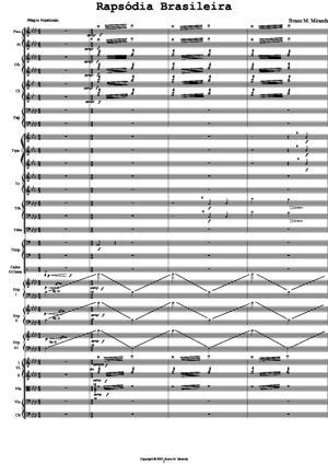 Sheet Music Brazilian Rhapsody