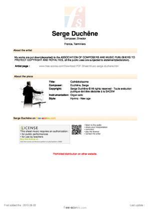 Sheet Music Cathédralissime