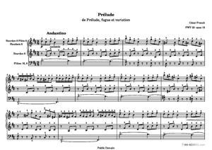 Sheet Music Prélude