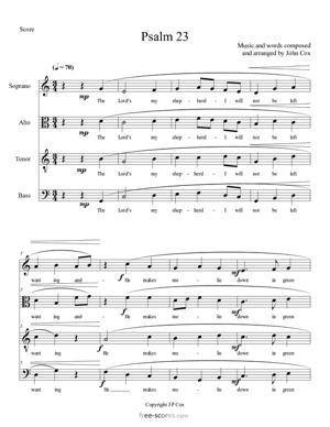 Sheet Music Psalm 23