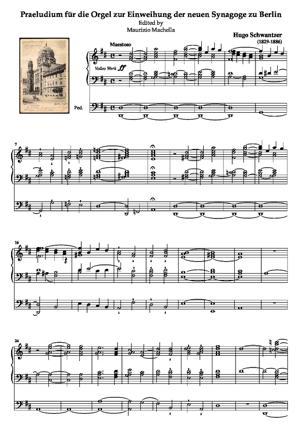 Sheet Music Praeludium für die Orgel zur Einweihung der neuen Synagoge zu Berlin