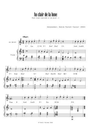 Sheet Music Au clair de la lune