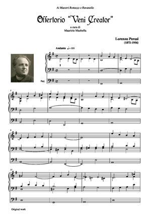 "Sheet Music Offertorio ""Veni Creator"" per Organo (original work)"