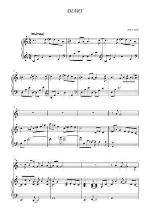 Sheet Music Alicia Keys - Diary