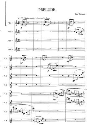 Sheet Music Quatuor Nostalgia -Prélude