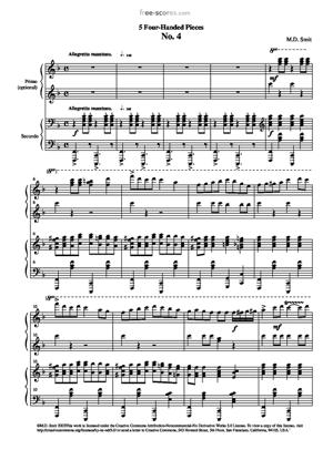 Sheet Music 5 Four-handed Pieces No. 4