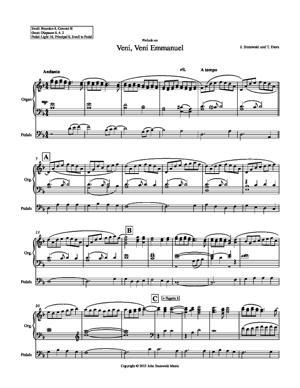 Sheet Music Prelude on Veni, Veni Emmanuel