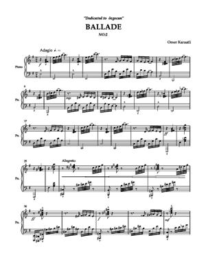 Sheet Music Ballade no.2