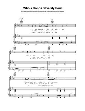 Sheet Music Gnarls Barkley - Who's Gonna Save My Soul