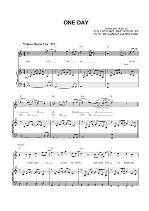 Sheet Music Matisyahu - One Day
