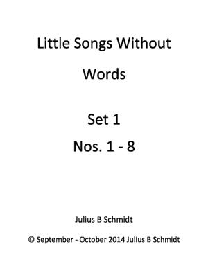 Sheet Music Little Songs Without Words, Set 1 Nos. 1-8