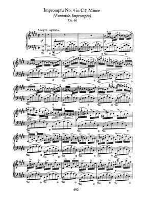 Sheet Music Chopin - Fantaisie Impromptu Op.66