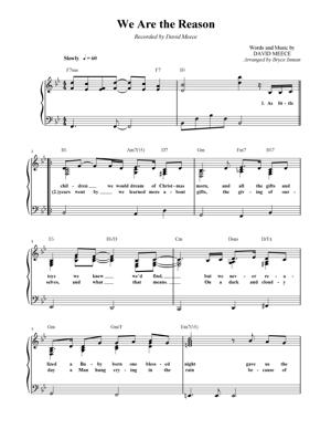 Sheet Music Christmas Sheet Music - We Are the Reason