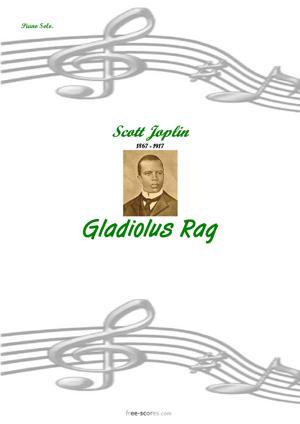 Sheet Music Gladiolus Rag