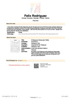 Sheet Music El Bejuquero