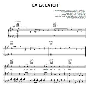 Sheet Music Pentatonix - La La Latch