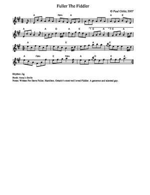 Sheet Music Fuller The Fiddler