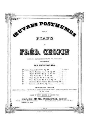 Sheet Music Chopin Fantasie Impromptu in c sharp minor. Op.66