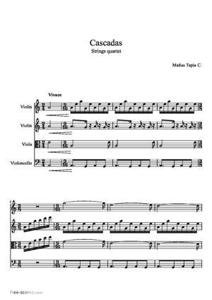 Sheet Music Cascadas